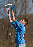 29 April 2016: The Vermont Commons School Flying Turtles Varsity Ultimate Team plays South Burlington High School in the Champlainships Ultimate Disk Tournament at the Williston Regional Center in Williston, Vermont. Mandatory Credit: Ed Wolfstein Photo *** RAW (NEF) Image File Available ***
