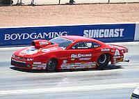 Apr 12, 2015; Las Vegas, NV, USA; NHRA pro stock driver Drew Skillman during the Summitracing.com Nationals at The Strip at Las Vegas Motor Speedway. Mandatory Credit: Mark J. Rebilas-