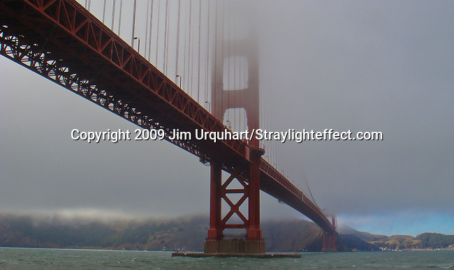The Golden Gate Bridge in the fog in San Francisco, California. Jim Urquhart/Straylighteffect.com<br /> 7/28/2009