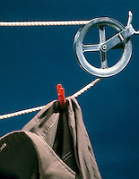 PULLEY CLOTHESLINE<br /> An Example Of A Simple Machine<br /> A pulley changes the direction of the force.