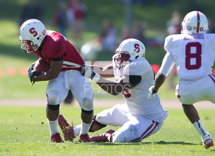 San Francisco, Ca - April 16, 2012: The Cardinal and White Spring football game at Kezar stadium.