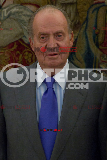 12.09,2012. King Juan Carlos I of Spain attend the delivery of 'XXIII FIES Journalism Award', awarded to Juan Manuel de Prada at the Zarzuela Palace. In the image King Juan Carlos of Spain  (Alterphotos/Marta Gonzalez) /NortePhoto<br /> <br />  **CREDITO*OBLIGATORIO** *No*Venta*A*Terceros*<br /> *No*Sale*So*third* ***No*Se*Permite*Hacer Archivo***No*Sale*So*third*