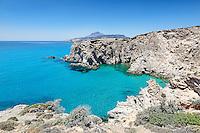 A surreal bay near Tsigrado in Milos, Greece