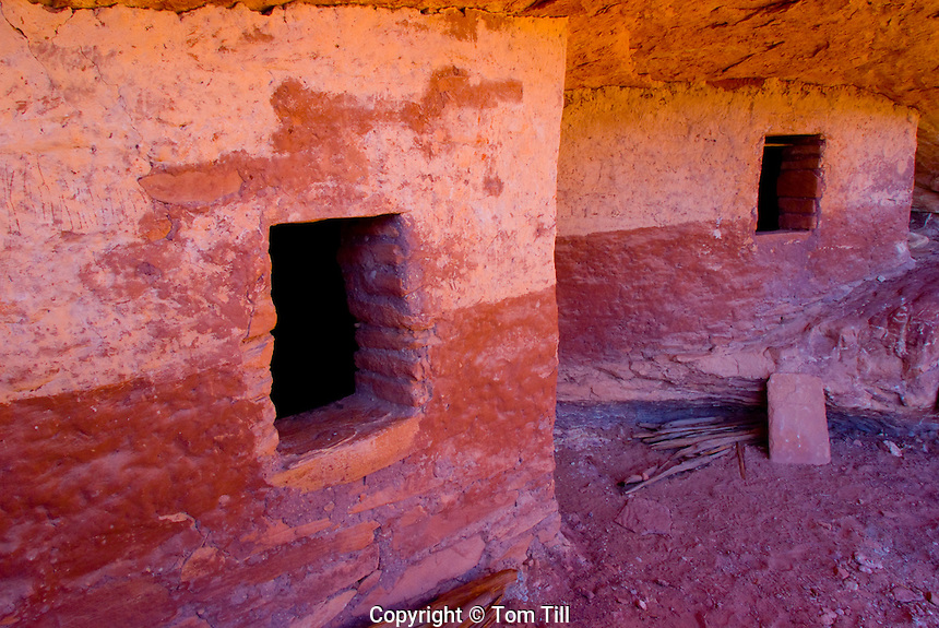 Red and White Ruin     Proposed San Juan Anasazi wilderness, Utah   Ancient painted cliff dwellings