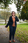 Nadia Eweida photographed in Twickenham near the Thames.