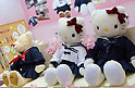 February 8th, 2012 : Tokyo, Japan - Teddybears and Hello Kitty products are displayed for The 73rd Tokyo International Gift show 2012 at Tokyo Big Sight. Customers can order doll's costume made from their own high school uniform. There are over 3 million items including gift products and everyday goods. 2500 exhibitors showcase their unique products. This exhibition is held from February 8 to 10. (Photo by Yumeto Yamazaki/AFLO)..