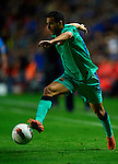 FC Barcelona's Pedro in action during the Spanish league football match Levante UD vs FC Barcelona on April 14, 2012 at the Ciudad de Valencia Stadium in Valencia. (Photo by Xaume Olleros/Action Plus)