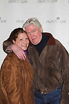 """David Butler who was on Days of our Lives and One Life to Live poses with his wife Anna as he stars as """"W. Harrison Brent"""" in  Perfect Crime - 30th Anniversary off-Broadway on April 18, 2017 at Bernstein Theatre, New York City, New York. (Photo by Sue Coflin/Max Photos)"""