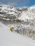 Skiing at Mt. Rose Ski Tahoe.