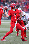 College Park, MD - November 12, 2016: Maryland Terrapins quarterback Caleb Rowe (7) attempts a pass during game between Ohio St. and Maryland at  Capital One Field at Maryland Stadium in College Park, MD.  (Photo by Elliott Brown/Media Images International)