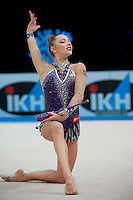 February 27, 2016 - Espoo, Finland - MELITINA STANIOUTA of Belarus performs at Espoo World Cup 2016.