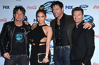 Keith Urban, Jennifer Lopez, Harry Connick Jr., Ryan Seacrest<br /> at the American Idol XIII Finalists Party, Fig &amp; Olive, Los Angeles, CA 02-20-14<br /> David Edwards/DailyCeleb.Com 818-249-4998
