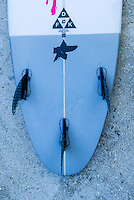 Namotu Island Resort, Namotu, Fiji. (Sunday June 4, 2014) Gabriel Medina's (BRA)  winning surfboard from the Fiji Pro 2014 – There were light winds sunshine all day but very little swell. Photo: joliphotos.com
