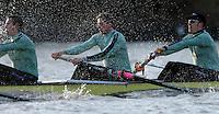 PUTNEY, LONDON, ENGLAND, 05.03.2006, CUBC; Cambridge, right to left, No 4. Thorsten Englemann; No.5 Sebastian Schulte; No.6 Kieran West;  Pre 2006 Boat Race Fixtures,.   © Peter Spurrier/Intersport-images.com[Mandatory Credit Peter Spurrier/ Intersport Images] Varsity Boat Race, Rowing Course: River Thames, Championship course, Putney to Mortlake 4.25 Miles