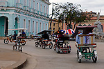 Central America, Cuba, Remedios. Bici-Taxis of Remedios.