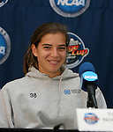 2 December 2006: North Carolina's Tobin Heath. The University of North Carolina Tarheels held a press conference at SAS Stadium in Cary, North Carolina one day before playing in the NCAA Division I Women's College Cup championship game.