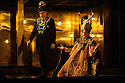 """EMBARGOED UNTIL 7:30pm FRIDAY 4th MARCH 2016: London, UK. 02.03.2016. English National Opera presents """"Akhnaten"""", composed by Philip Glass, and directed by Phelim McDermott. Picture shows: Clive Bayley (Aye), Colin Judson (High Priest of Amon). Photograph © Jane Hobson."""