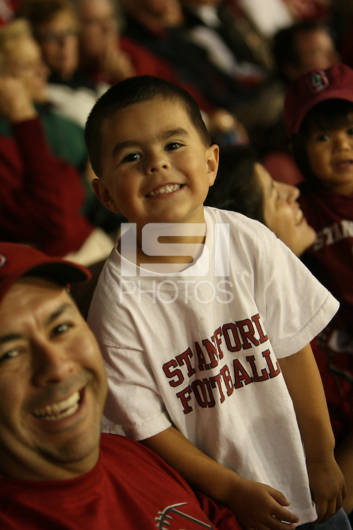 15 September 2007: Fans during Stanford's 37-0 win over San Jose State at Stanford Stadium in Stanford, CA.