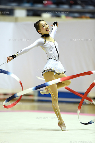 Ryoko Inomata, <br /> NOVEMBER 16, 2014 - Rhythmic Gymnastics : 67th All Japan Rhythmic Gymnastics Championships, Women's Individual Ribbon at Yoyogi 1st Gymnasium in Tokyo, Japan. <br /> (Photo by AFLO SPORT) [1220]