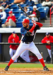 4 March 2009: Washington Nationals' first baseman Nick Johnson in action during a Spring Training game against the New York Mets at Space Coast Stadium in Viera, Florida. The Nationals rallied to defeat the Mets 6-4 . Mandatory Photo Credit: Ed Wolfstein Photo