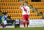 St Johnstone v Kilmarnock&hellip;15.10.16.. McDiarmid Park   SPFL<br />Scott Boyd celebrates his goal<br />Picture by Graeme Hart.<br />Copyright Perthshire Picture Agency<br />Tel: 01738 623350  Mobile: 07990 594431