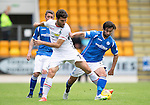 St Johnstone v Inverness Caley Thistle...08.08.15...SPFL..McDiarmid Park, Perth.<br /> Dani Lopez and Simon Lappin<br /> Picture by Graeme Hart.<br /> Copyright Perthshire Picture Agency<br /> Tel: 01738 623350  Mobile: 07990 594431
