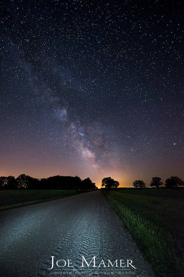 The milky Way Galaxy low in the Minnesota sky.