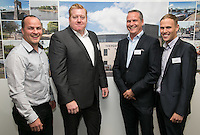 Pictured from left are Craig Toomey, 'Tasty' Tom Saxton, Shaun Toomey and Sean King of ARC Business Interiors