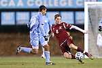 25 November 2012: FDU's Jack McVey (IMN) (8) and UNC's Raby George (SWE) (33). The University of North Carolina Tar Heels played the Farleigh Dickinson Knights at Fetzer Field in Chapel Hill, North Carolina in a 2012 NCAA Division I Men's Soccer Tournament third round game. UNC won the game 1-0 in overtime.