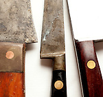 G. Michael's Executive Chef David Tetzloff's knives.(Jodi Miller/Alive)