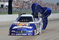 May 22, 2011; Topeka, KS, USA: NHRA funny car driver Jack Beckman during the Summer Nationals at Heartland Park Topeka. Mandatory Credit: Mark J. Rebilas-