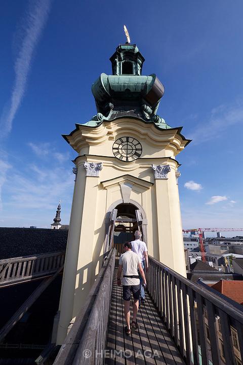 Linz, Austria. H&Ouml;HENRAUSCH.3<br /> Die Kunst der T&uuml;rme (The Art of Towers)<br /> Kircht&uuml;rme der<br /> Ursulinenkirche (St. Ursula Church Towers)