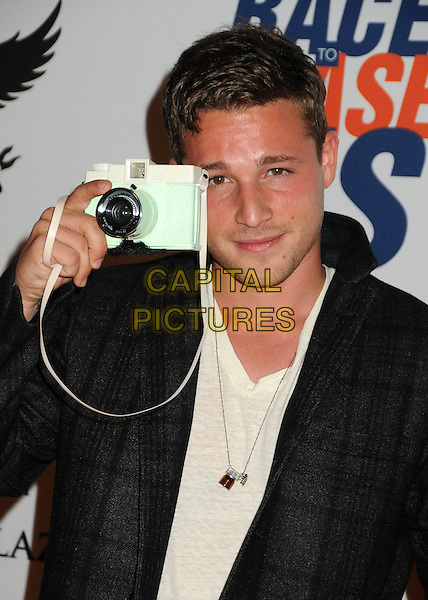 Shawn Pyfrom.19th Annual Race To Erase MS held at the Hyatt Regency Century Plaza Hotel, Century City, California, USA, .18th May 2012..portrait headshot  camera grey gray jacket  checked .CAP/ADM/BP.©Byron Purvis/AdMedia/Capital Pictures.