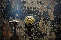 A vintage locked safe in New York on Tuesday, September 20, 2016. (© Richard B. Levine)