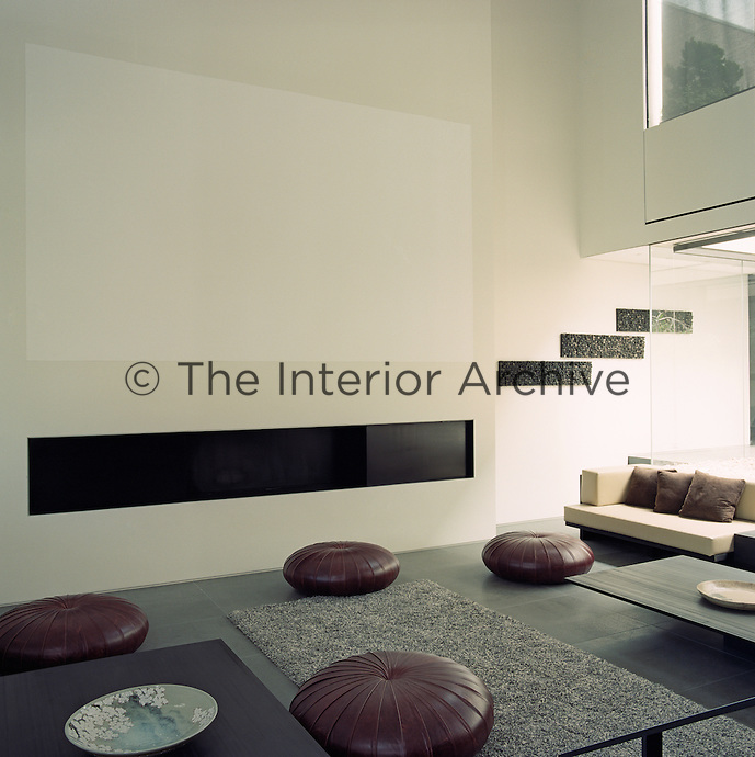 Inspired by traditional Japanese architecture the floors of the apartment are an integral part of the living space