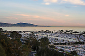 Sunset over Dana Point Harbor Stock Photo