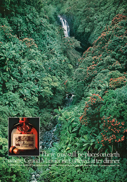 Grand Marnier Ad, Hawaii Waterfall