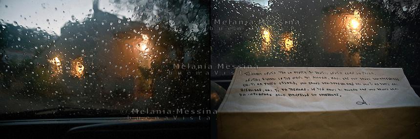 photo inspired by the emotions and words of A, a woman abused  when she was a child first and then victim of violence by the husband. above the translation of her handwriting: &quot;You move slowly amongst the rush of many, slowly like fear..Slowly, you remember your hands at that time, hands unable to punch who made you screaming, unable to punch who never let you arise, who made you shiver. Your hands at that time which don't have weapons to take, only crutches to grasp&quot;.<br /> Immagine ispirata dalle parole di A., una donna che ha subito abusi in famiglia durante l'infanzia e poi vittima di violenza domestica: &quot;Ti muovi lenta tra la fretta di tanti, lenta come la paura. Lenta ricordi le tue mani di allora, mani che non sanno schiaffeggiare chi ti ha fatto urlare, non sanno schiaffeggiare chi non ti ha fatto mai svegliare, chi ti fa tremare. le tue mani di allorache non hanno armi da impugnare solo stampelle da afferrare.&quot;