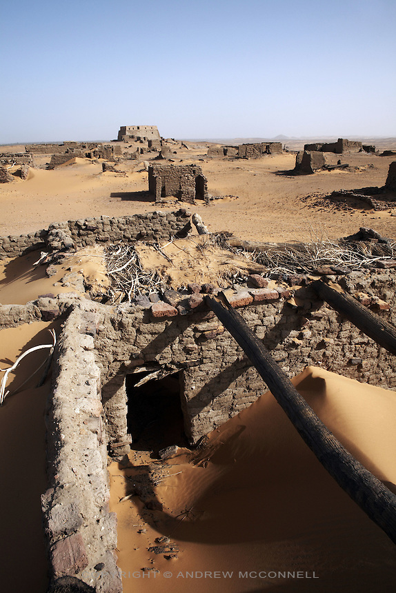 The ruins of the medieval city of Old Dongola, Sudan, on Monday, March 26, 2007. Old Dongola was the capital of the Christian kingdon of Makuria which, from the 7th to the 14th centuries, controlled the river Nile from the First Cataract southwards, possibly as far as Atbara.