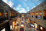 Photo shows the Venus Mall shopping area in Tokyo, Japan. The mall is designed to represent the flavor of 16th-century Europe.