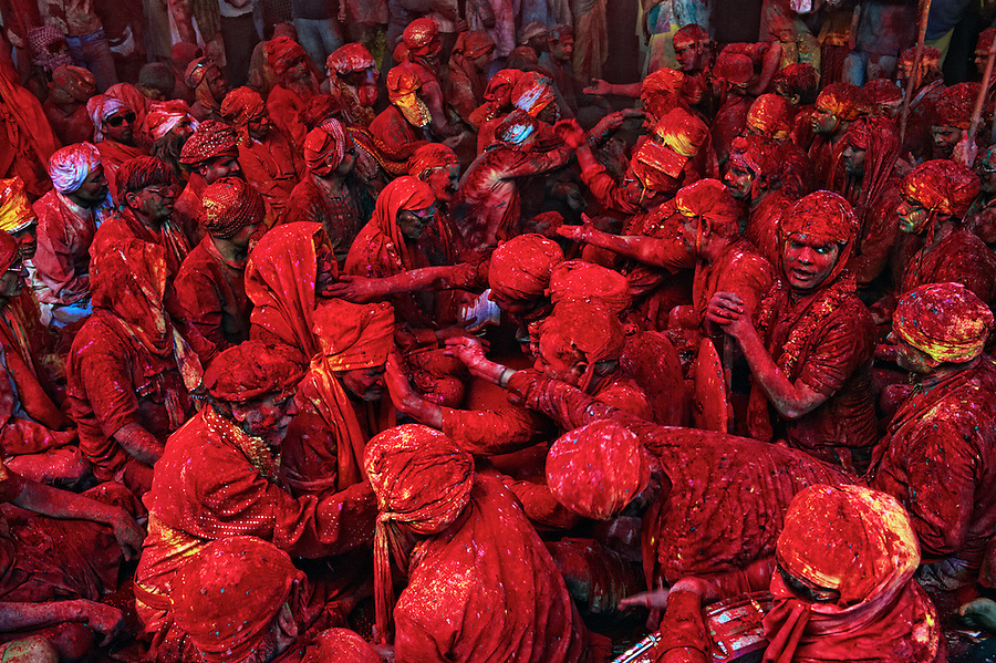 The festival of Holi is a religious festival. People sing bhajans of Radha and Lord Krishna on this day and it marks the beginning of Spring Season in india...Here you can see a gathering of people singing folk songs during Holi (Festival of Colors), India.