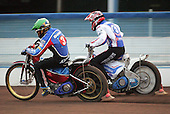 Heat 3 - Kasprzak (green), Zagar - Reading Bulldogs vs Lakeside Hammers - Elite League Speedway at Smallmead, Reading- 23-04-07 - MANDATORY CREDIT: Gavin Ellis/TGSPHOTO - IMAGES USED WILL BE INVOICED AT STANDARD RATES..