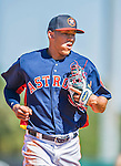 4 March 2016: Houston Astros infielder Carlos Correa returns to the dugout during a Spring Training pre-season game against the St. Louis Cardinals at Osceola County Stadium in Kissimmee, Florida. The Astros defeated the Cardinals 6-3 in Grapefruit League play. Mandatory Credit: Ed Wolfstein Photo *** RAW (NEF) Image File Available ***