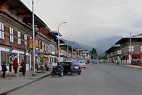 The city of Paro, which is very calm, clean and the population is very less. Arindam Mukherjee..