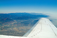 Aerial, View, Leaving, Los Angeles, CA, en-route to San Francisco, CA, Aerial, California, USA