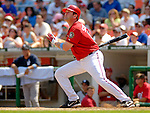 18 June 2006: Brian Schneider, catcher for the Washington Nationals, in action against the New York Yankees at RFK Stadium, in Washington, DC. The Nationals defeated the Yankees 3-2 in the third game of the interleague series...Mandatory Photo Credit: Ed Wolfstein Photo...