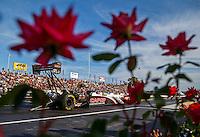 Jun 10, 2016; Englishtown, NJ, USA; NHRA top fuel driver Steve Torrence during qualifying for the Summernationals at Old Bridge Township Raceway Park. Mandatory Credit: Mark J. Rebilas-USA TODAY Sports