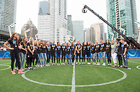 Vancouver, Canada - July 6, 2015:  The USWNT appeared on Fox after winning the FIFA Women's World Cup at BC Place.
