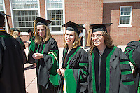 Elizabeth Strong, Maria Michael, Amanda Miller. Class of 2012 commencement.
