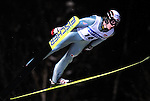 STEFAN HULA of Poland soars through the air during the FIS World Cup Ski Jumping in Sapporo, northern Japan in February, 2008.